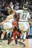 NCAA Women's Basketball AAC Tournament SF - #2 USF 64 vs #3 Temple 46-30