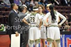 NCAA Women's Basketball AAC Tournament SF - #2 USF 64 vs #3 Temple 46-43