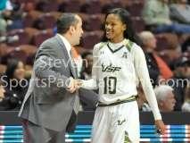 NCAA Women's Basketball AAC Tournament SF - #2 USF 64 vs #3 Temple 46-80