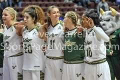 NCAA Women's Basketball AAC Tournament SF - #2 USF 64 vs #3 Temple 46-83