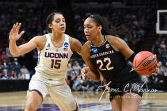 NCAA Women's Basketball Regional Finals - #1 UConn 94 vs. #2 South Carolina 65 (108)